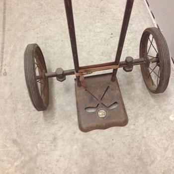 Vintage Master Caddie pull golf cart