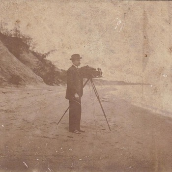 GRANDPA AT THE BEACH - Photographs