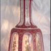 19th Century BOHEMIAN Overlay Perfume Flacon