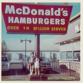 Mid 1970&#039;s McDonalds 19 Billion Served - Photographs