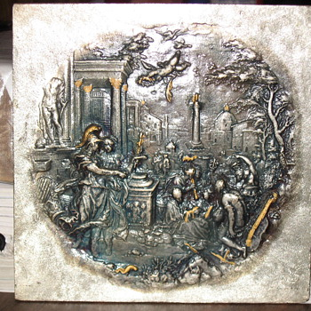 Metal Plate decorated with classical artwork - Posters and Prints