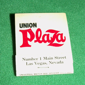 Vintage/Antique Union Plaza Casino Match Book ~ Las Vegas, Nevada (Fremont Street)