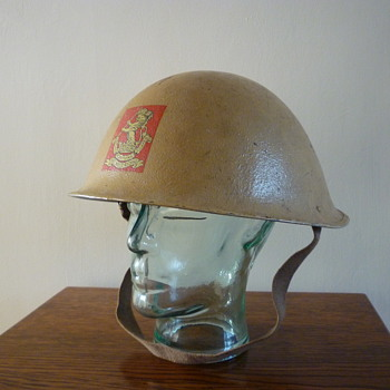 British 1950's Officers steel helmet