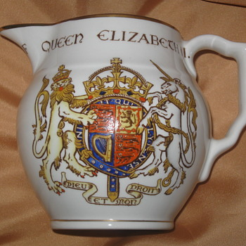 Queen Elizabeth II . . . Coronation Pitcher - Advertising