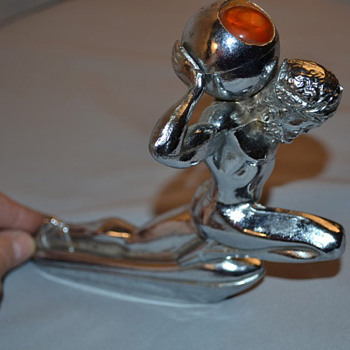 Illuminated Atlas Hood Ornament - Art Deco