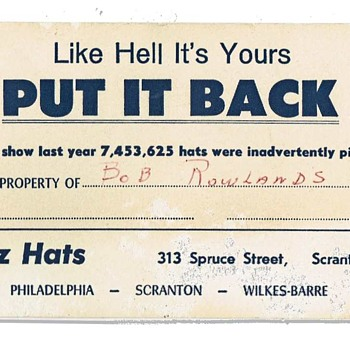 Like Hell It's Yours. Put it Back - Hats