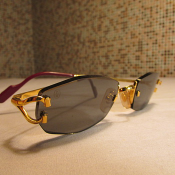 Old School Cartier 18k Gold Sunglasses - Accessories