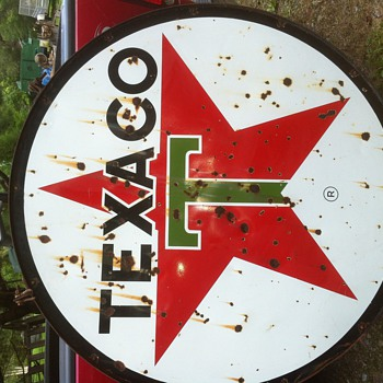 1960 texaco sign - Petroliana