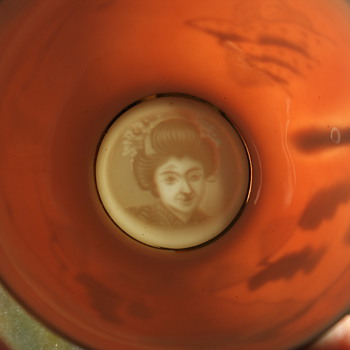 Lithophane Mori Made in Japan Cup and Saucer