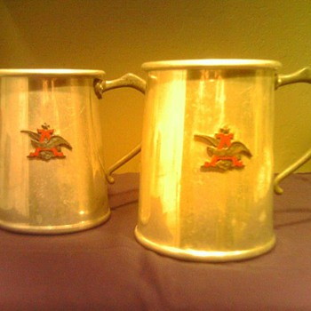 Anheuser Busch Vintage Promotional Mugs - Breweriana