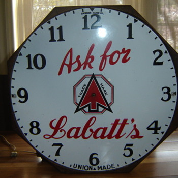 1930's Shonbeck Clock Co.  Hamilton, Ont., for Labatts Beer!