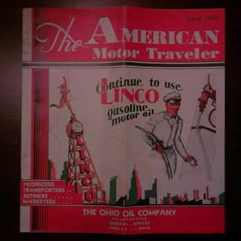 1935 America Motor Traveler Magazine by The Ohio Oil Company
