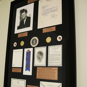 JOHN F. KENNEDY  .  .  .  'In Memory' Display
