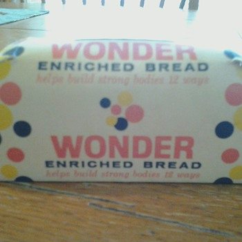 Wonder Bread Cardboard Bank - Coin Operated