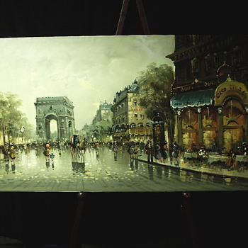"Antonio DeViti Impressionist "" Paris after Rain"""