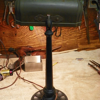 Antique Desk Lamp by Greist Mfg. Co.