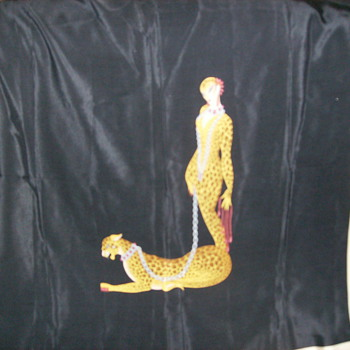 this is a erte' scarf the letter L - Accessories
