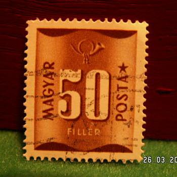 Vintage Magyar Posta 50 Filler Stamp ~ Used - Stamps