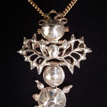 Pre-Gregorian Silver-Gold Diamond Pendant/Brooch ?  - Fine Jewelry