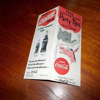 1956 Coca-Cola Election Night Pocket Guide - Coca-Cola