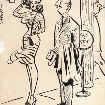 Humorama Magazine Original Pin Up Art and Comics - Comic Books
