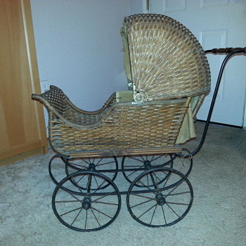 Wicker Doll Carriage - Toys