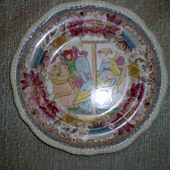 OLD DECORATIVE PLATE