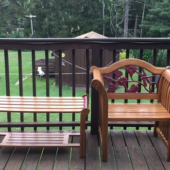 My chair and bench set