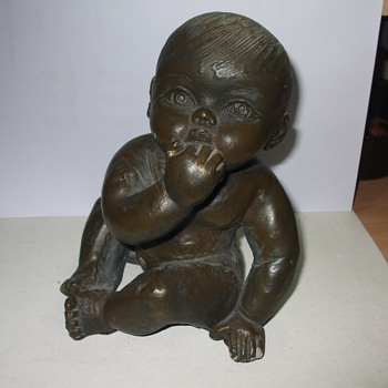 Baby Statue - Art Pottery