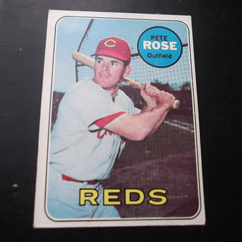 Pete Rose 1969 Topps Baseball Card