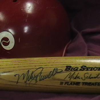 Game Used Autographed Mike Schmidt Bat