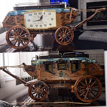 Vintage Stagecoach Mantel Clock