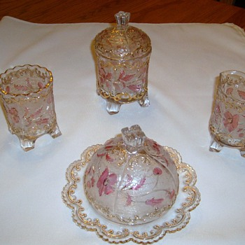 Antique glass tea/coffee set?