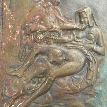 Erotic Plaque no markings, unknown Mfg. or Year Sexual Images - Visual Art