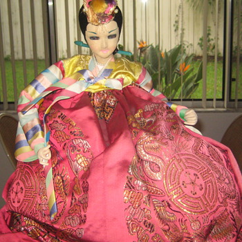 Oriental fabric doll - Dolls