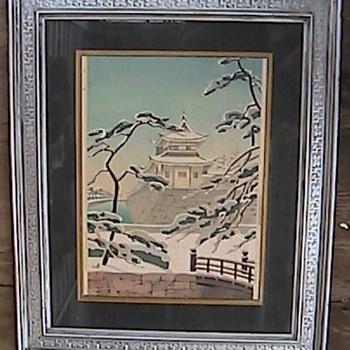 Kinji Toda Japanese Woodblock Print Circa 1930