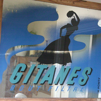 Gitanes Ad mirror - Tobacciana