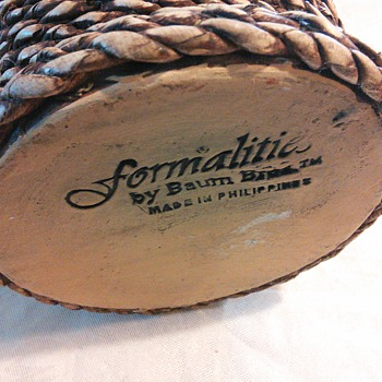 Formalities by Baum Bro. Weaved Pottery Vase