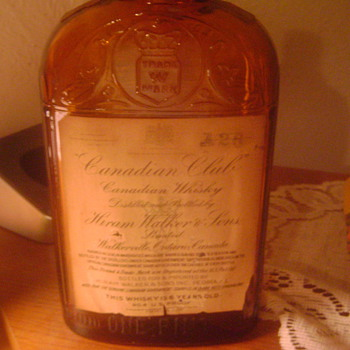 old canadian club whisky bottle