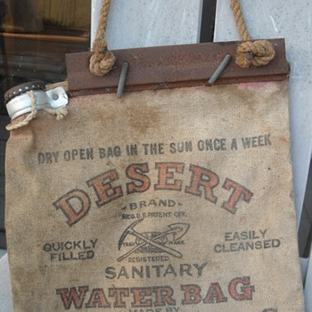 ww2 era canvas water bag & safety can