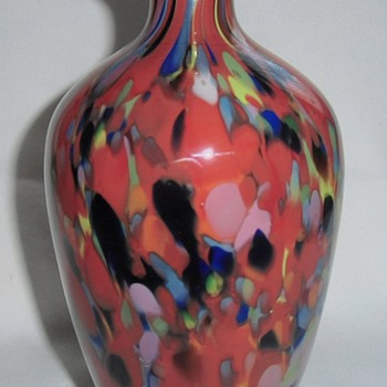 Latest Addition Rückl Red Spatter Baluster Vase 8 inches= 2pounds