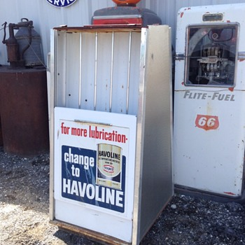 Havoline oil rack - Petroliana