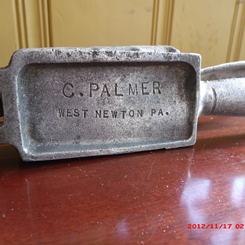 Vintage Palmer 101 lead fishing sinker mold. - Fishing