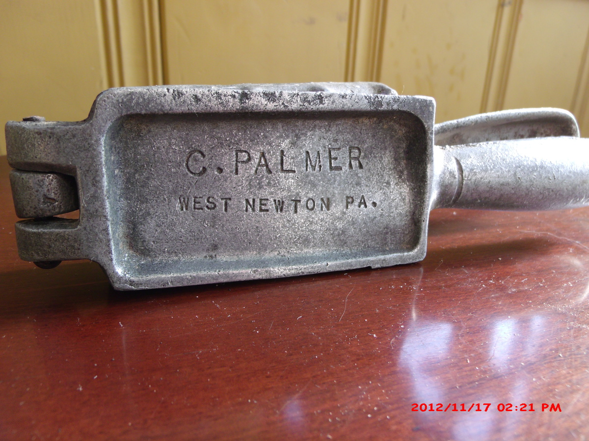 vintage palmer 101 lead fishing sinker mold collectors