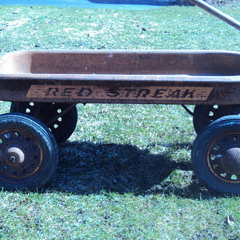 Rusty Red Streak Wagon