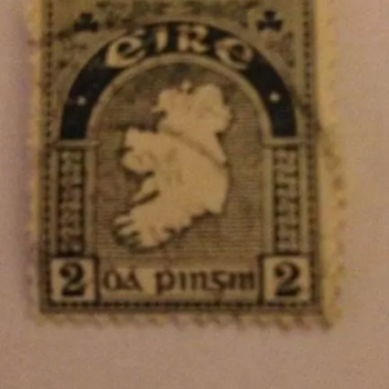 Eire Irish 1935 2d coil stamp