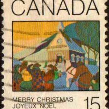 "1980 - Canada ""Christmas"" Postage Stamp - Stamps"