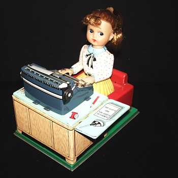 "Busy Secretary,Mechanical Toy""Linar 1950"" - Toys"