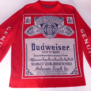 My Budweiser Sweater- Its The REAL Thing! A GENUINE! Not the COPY! - Mens Clothing
