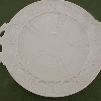 Belleek Shell Bread Plate - 3rd mark - Pottery